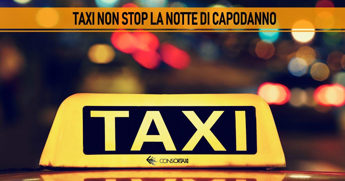 taxi non stop la notte di capodanno